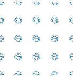Operator icon pattern seamless white background vector