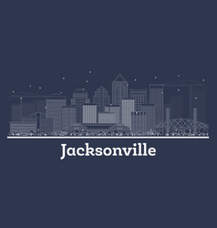 Outline jacksonville florida city skyline with vector
