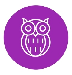 Owl line icon vector