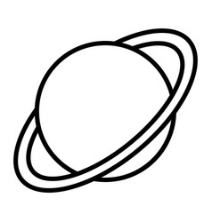 planet saturn icon element for mobile concept and vector image
