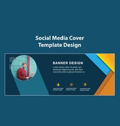 Professional social media cover template design vector