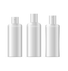 Realistic template blank white shampoo cosmetic vector