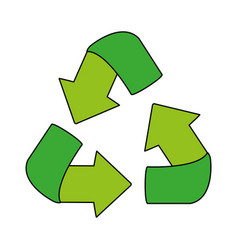 Recycle arrows icon image vector