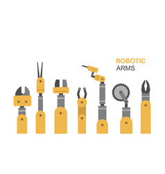 robotic arms vector image