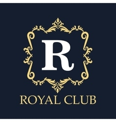 Royal club with ornament design vector