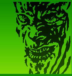 Scary face demon vector
