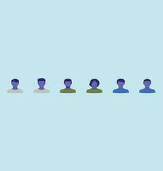 Set avatar women design template vector
