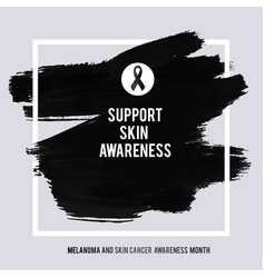 Skin cancer and melanoma awareness month vector