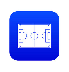 soccer field icon digital blue vector image