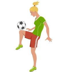 Soccer girl vector
