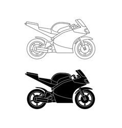 Sport bike line vector
