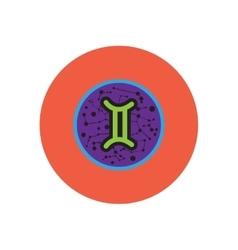 stylish icon in color circle Zodiac sign Gemini vector image