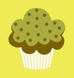 sweet dessert in flat design muffin vector image