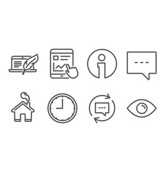 Time blog and update comments icons internet vector
