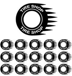 Tire service shop rent wash car garage vector