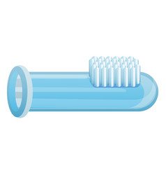Toothbrush glass tube icon cartoon style vector