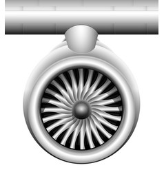 Turbine of a jet engine of a modern aircraft vector