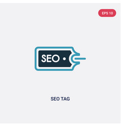 two color seo tag icon from multimedia concept vector image