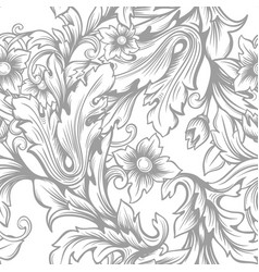 Vintage baroque seamless pattern vector