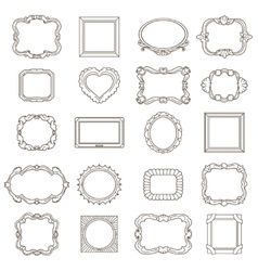 Vintage hand drawn frames for greetings and vector