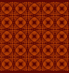 vintage seamless patterns on dark red background vector image