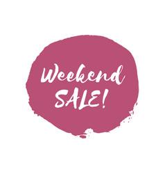 Weekend sale design template vector