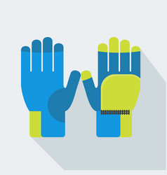 winter gloves isolated vector image