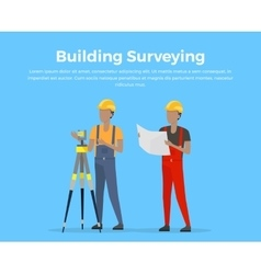 Building Surveying vector image vector image