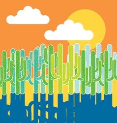 cactus in the desert vector image