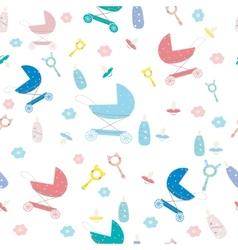 Childrens newborn texture for boy vector image