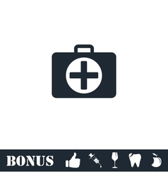 First aid kit icon flat vector image vector image