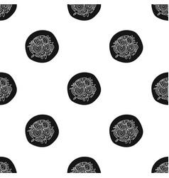 italian spaghetti pasta icon in black style vector image vector image