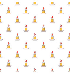 simple candle pattern seamless vector image