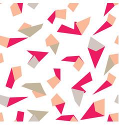 geometric memphis style modern seamless pattern vector image
