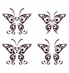 Butterfly pattern tattoo vector