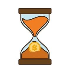 cartoon clock glass sand business clock money vector image vector image