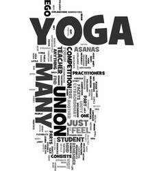 Yoga is unity text word cloud concept vector