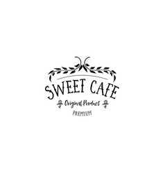 Badge set for small businesses - sweet bakery the vector