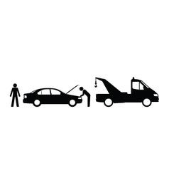 Car breakdown vector image vector image
