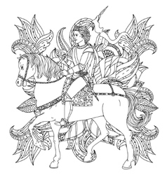 prince from a fairy tale vector image vector image