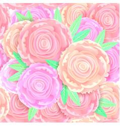 seamless pattern gentle peonies vector image vector image