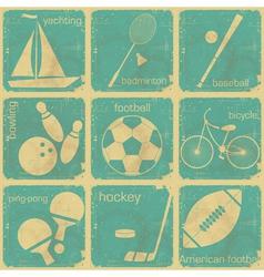 set of Vintage Sport separate Labels vector image vector image