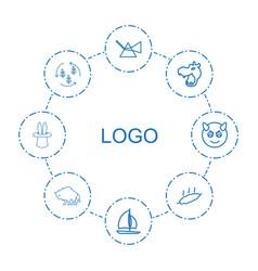 8 logo icons vector
