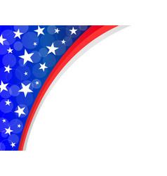 Abstract american flag frame corner vector