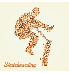 Abstract skateboarder in jump vector