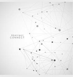 abstract triangles with connecting dots and lines vector image