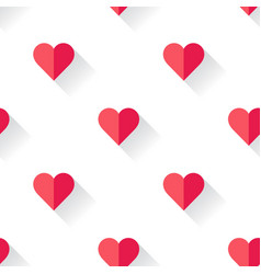 abstract valentines heart pattern vector image