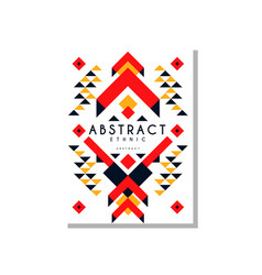 abstrat ethnic card colorful ethno tribal vector image