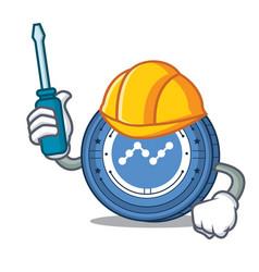 Automotive nano coin mascot cartoon vector