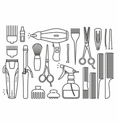Barber shop tools vector